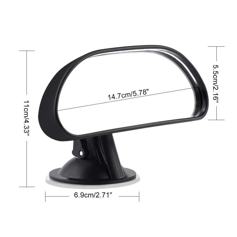 KOBWA Miroir Voiture B/éb/é Ventouse,R/étroviseur B/éb/é Voiture Vue Arri/ère Miroir R/églable,Miroir Auto B/éb/é avec Rotation 360/° S/écurit/é Surface Convient /à Toute Voiture
