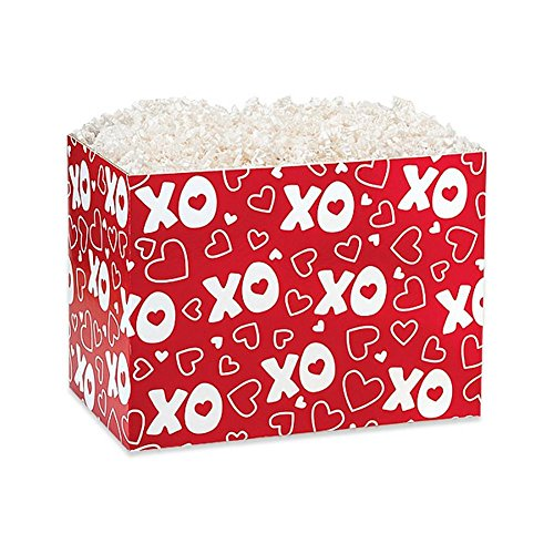 Small XOXO Basket Boxes - 6.75 x 4 x 5in. - 90 Pack by NW