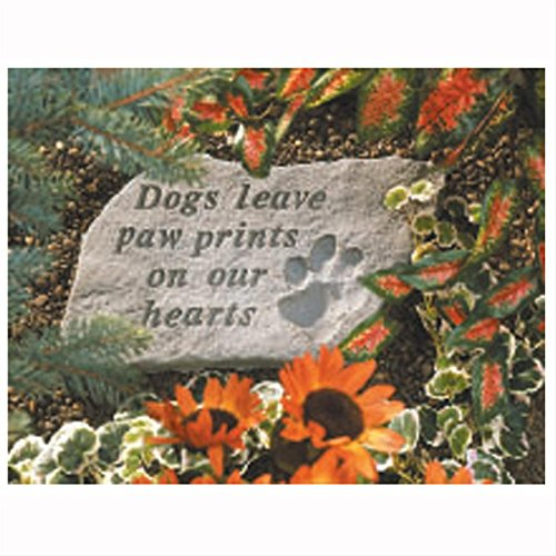 Design Toscano Dog Paw Prints Cast Stone Memorial Statue: Large (Stone Dog Cast)
