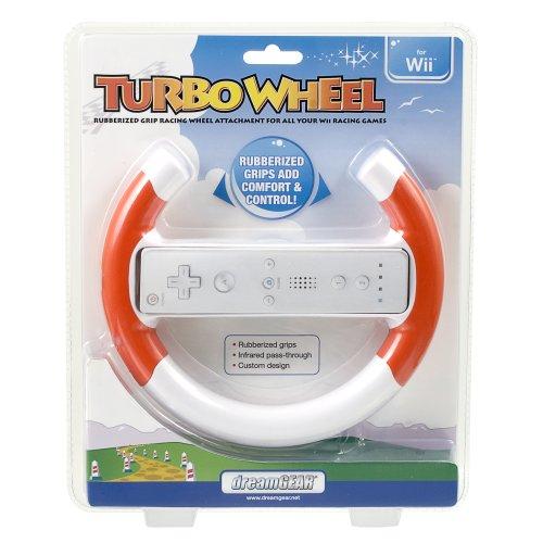 dreamGEAR for Nintendo Wii Turbo Wheel (Red) (Turbo Wheel Wii)