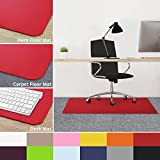 casa pura Office Chair Mats for Carpeted Floors - 30''x48'' | Carpet Protector Floor Mat, Red - BPA Free, Odorless | Matching Desk Mats Available