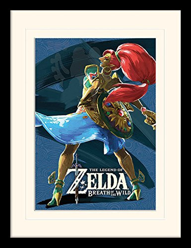 iPosters The Legend of Zelda: Breath Of The Wild Divine Beast vah Nabori Framed & Mounted Print - Overall Size: 36 x 46 cm (14 x 18 inches) Mount Size: 30 x 40 cm (Zelda Breath Of The Wild Vah Naboris)