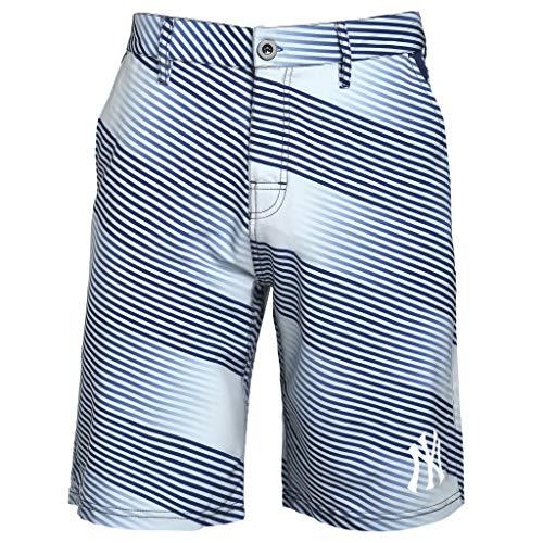 - Mens Diagonal Stripe Walking Shorts New York Yankees (X-Large/38)