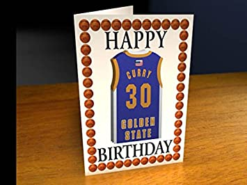 Nba basketball jersey themed greeting cards personalized birthday nba basketball jersey themed greeting cards personalized birthday card any name any number bookmarktalkfo Image collections