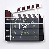 Ysayc Wall Clocks Movie Stations Creative Wall Clocks Silent Living Room Bedroom Home Decor Art Wall Clocks