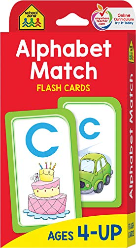School Zone - Alphabet Match Flash Cards - Ages 4 and Up, Letters, Alphabet, Letter-Picture Recognition, and More ()