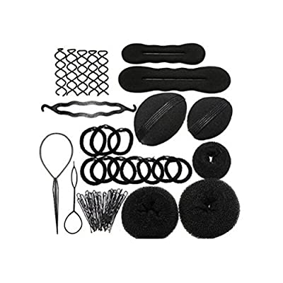 Youngman Magic Hair Styling Clip Accessory Maker Tool Pads Foam Sponge Hairpins Bun Donut