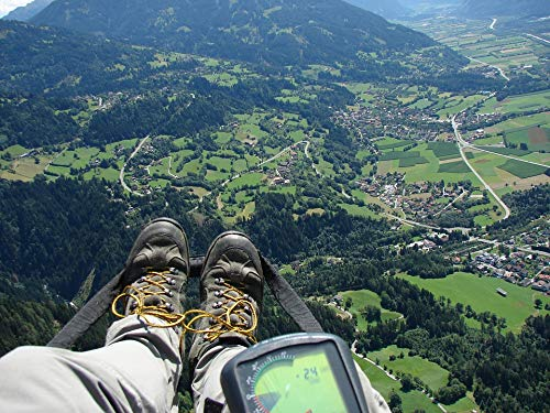 Home Comforts Framed Art for Your Wall Fly GPS Altimeter Mountaineering Shoes Paragliding Vivid Imagery 10 x 13 Frame