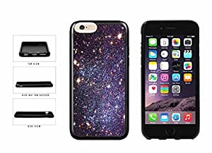 Bright Black Stars Deep Space TPU RUBBER Phone Case Back Cover Apple iphone 6 plusd 5.5 inches screen) includes diy case Cloth and Warranty Label