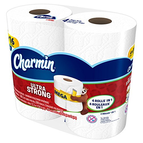 Large Product Image of Charmin Ultra Strong Toilet Paper, Mega Roll, 24 Count (Packaging May Vary)