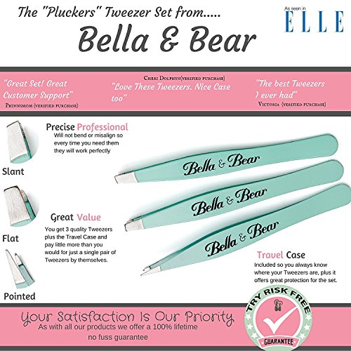 Eyebrow Tweezers by Bella and Bear - The Tweezers Set for Professional Shaping by Bella and Bear (Image #1)