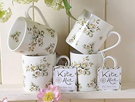 Creative Tops Katie Alice Cottage Flower Green Floral Fine China Shabby Chic Mug