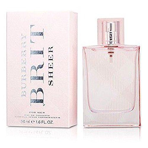 Chanel Sheer Perfume (Burberry Brit Sheer Eau De Toilette Spray for women.EDT 1.6 fl oz / 50 ml)
