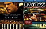 Limitless (Unrated) + Blackhat 2 Pack Drama Mystery Action Movie Set