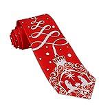 John William Mens Christmas Tree Ornament & Nativity Necktie Holiday Red Religious Tie