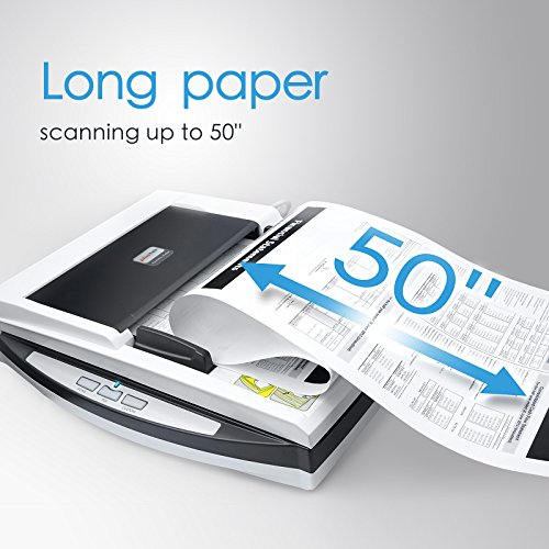 Plustek Speed Versatile + one. 50 Sheet Document and A4 Size scan Special Design Suit Folded