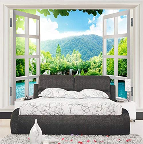 xilinglin Modern Entrance Window Views Wallpaper Chinese Landscape Mountains and Lakes Wall Mural Customized 3D Photo Wallpaper for Walls