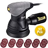 Random Orbit Sander TECCPO, 2.8A/14,000 OPM 5-inch Random Orbit Sander with 12 Pcs Sandpapers,Recyclable Dust Bag, High Eccentric Orbit, Powerful Fine Copper Motor for DIY & Home Decoration -TARS22P