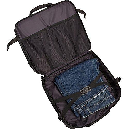 Heritage Travelware Streeterville 1680d Polyester Triple Compartment Top Zip Laptop Portfolio Overnighter, Black