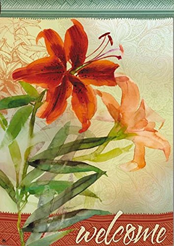 Tiger Lily Spring House Flag by BreezeArt (Lily Tiger Drapes)