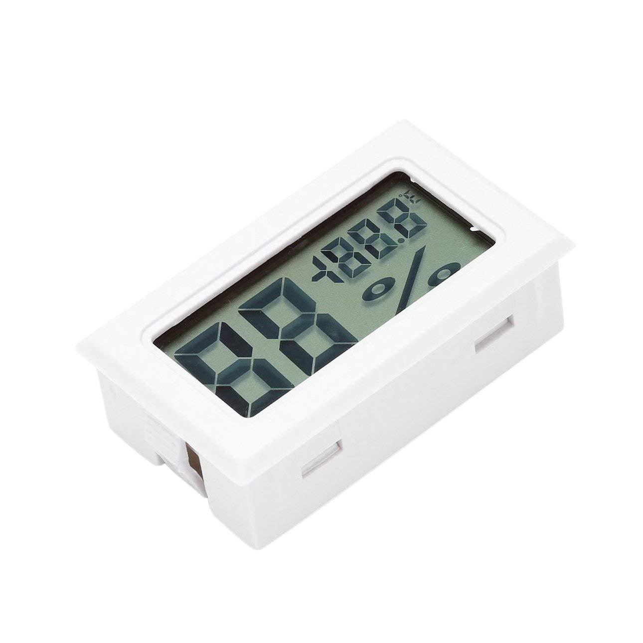 Pudincoco Profesional Mini Digital LCD Term/ómetro Higr/ómetro Humedad Medidor de Temperatura Interior Digital Pantalla LCD Sensor