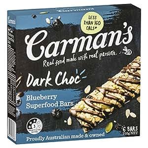 Carman's Muesli Bar Dark Choc Blueberry Superfood, 6-Pack (210g)