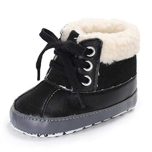 Huhu833 Kinder Mode Baby Stiefel Soft Sole, Keep Warm Schnee Stiefel, Kleinkind Stiefel Warm Schuhe (0-18 Month) Schwarz