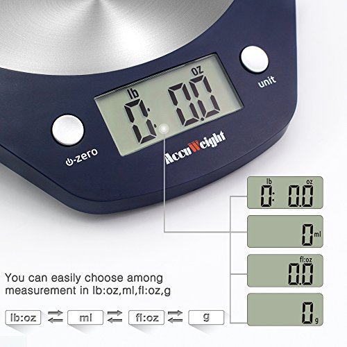 Amazon.com: Accuweight Digital Food Scale with 11lb/5kg Gram Scale ...
