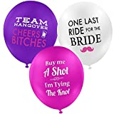 """Bachelorette Party Decorations, Balloons for Themed Parties, Supplies for Favors Bags (15 Count Value Pack) Premium Quality 12"""" Size, Funny Naughty Bride Props and Accessories for a Girls Night Out."""
