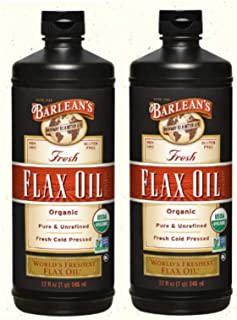 product image for Barlean's Fresh Flax Oil, 32-Ounce Bottle (2 Pack)