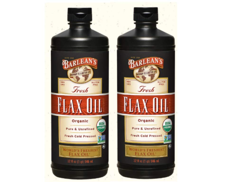 Barlean's Fresh Flax Oil, 32-Ounce Bottle (2 Pack) by Barlean's