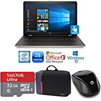 """HP 15-bs014cy Core i3-7100 8GB 2TB HDD 15.6"""" HD WLED Touch Screen Laptop Bundle with MS Office 365 (Certified Refurbished)"""