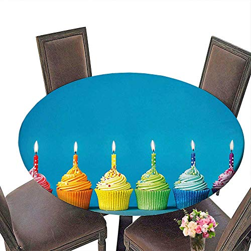- Durable Polyeste Tablecloth(Elastic Edge) Suitable for All Occasions, (33.5