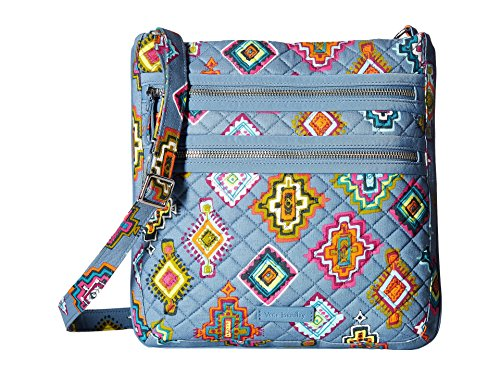 Vera Bradley Women's Iconic Triple Zip Hipster Painted Medallions One Size