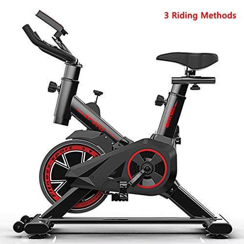 AJUMKER Indoor Cycling Bike,Exercise Cycling Racing Bike Belt Driven,Home Fitness Trainer with LCD Display,Adjustable…
