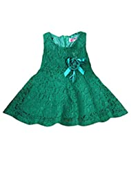 FEITONG Fashion Girls Kids Lace Floral Princess Party Dress