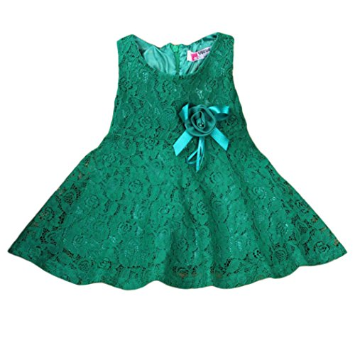 FEITONG(TM) Fashion Girls Kids Lace Floral Princess Party Dress