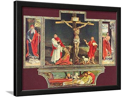Mathis Gothart Grunewald (Isenheim Altar, formerly the main altar in Antoniterklosters Isenheim/A Poster Framed Lamina, Black