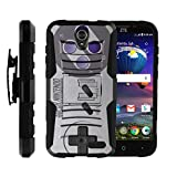 Cheap TurtleArmor | Compatible for ZTE Grand X 3 Case | ZMax Champ | Warp 7 [Hyper Shock] Hybrid Dual Layer Armor Holster Belt Clip Case Kickstand – Classic Game Controller