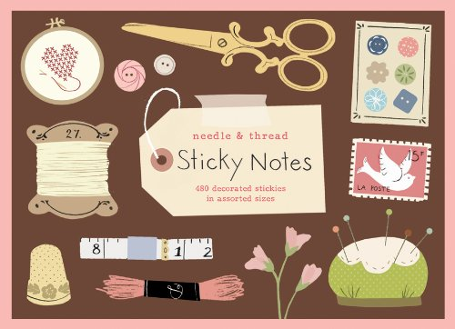 Needle and Thread Sticky Notes by Galison