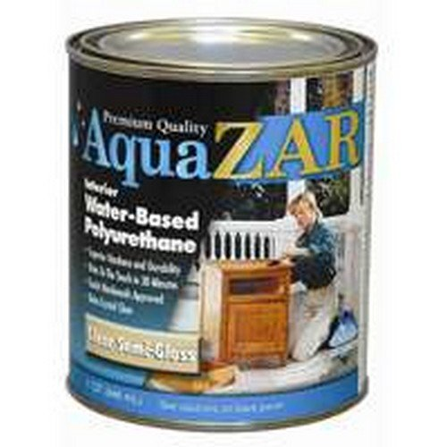Aqua Zar Water Based Semi- Gloss Polyurethane Water Based Interior Semi Gloss Clear 1 Qt