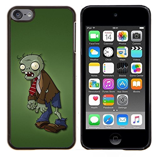 For Apple iPod Touch 6 6th Generation - Zombie Green Man Monster Cartoon Character Case Cover Protection Design Ultra Slim Snap on Hard Plastic - God Garden (Zombie Cartoon Characters)