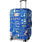 """Elastic Travel Luggage Cover Travel Suitcase Protective Cover for Trunk Case Apply to 19""""-32"""" Suitcase Cover (Blue…"""