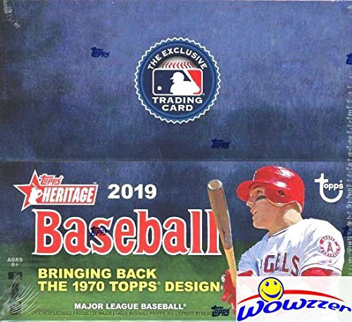 (2019 Topps Heritage Baseball MASSIVE Factory Sealed 24 Pack Retail Box with 216 Cards! Look for Real One Autographs, Relics, Parallels, Inserts & More! Brand New! This Product is On)