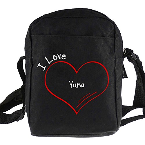 Umhängetasche Modern I Love Yuna schwarz