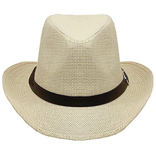 SILVERFEVER Silver Fever Woven Urban Panama Cowboy Hat with Ribbon (Urban Cowboy Hats)