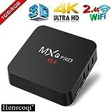 Electronics : Henscoqi MXQ PRO Smart TV Box 1GB 8GB 4K HD 3D Wifi H.265 Android 7.1 TV Box [Pure Version]