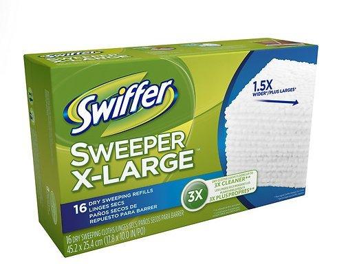 Swiffer Sweeper XL Dry Sweeping布Refills 16.0each、5 pk B01N3KP5RZ