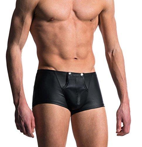 iiniim Leather Shorts Underpants Button product image