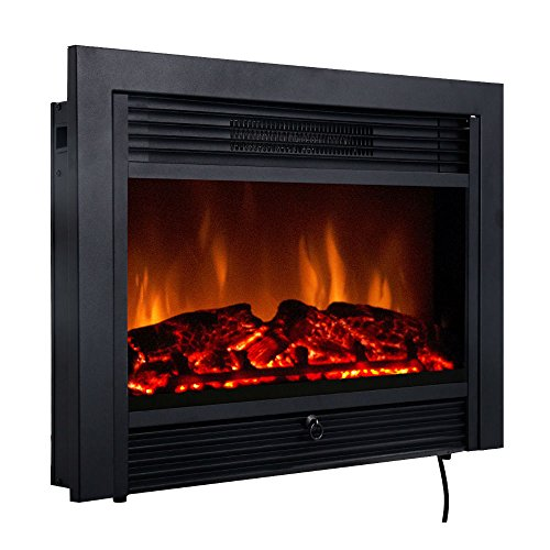"28.5"" Fireplace Electric Embedded Insert Heater Glass Log Flame Remote Home from Unknown"
